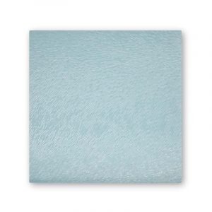 Glass square textured coasters