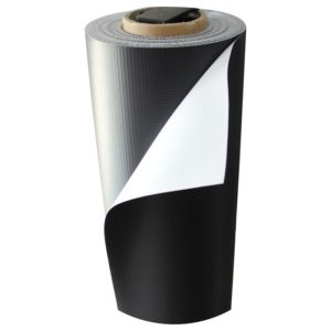 1.37m x 50m PVC banner 500GSM satin roll (black back)