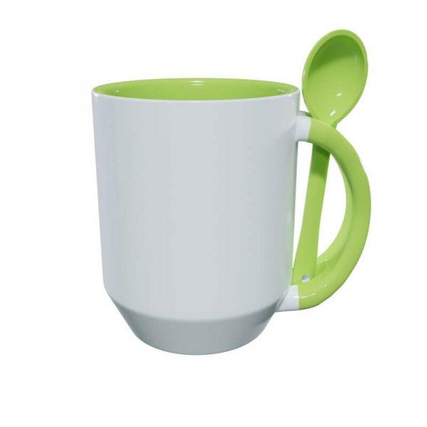 Titan-Jet Africa   Mug with spoon light green